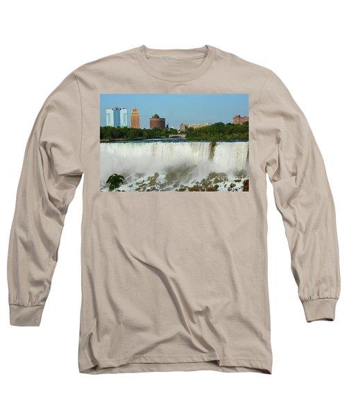 American Falls With Bridal Veil Long Sleeve T-Shirt
