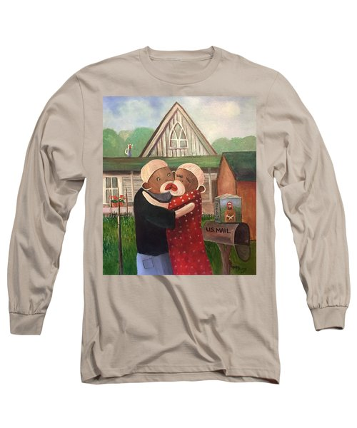 American Gothic The Monkey Lisa And The Holler Long Sleeve T-Shirt