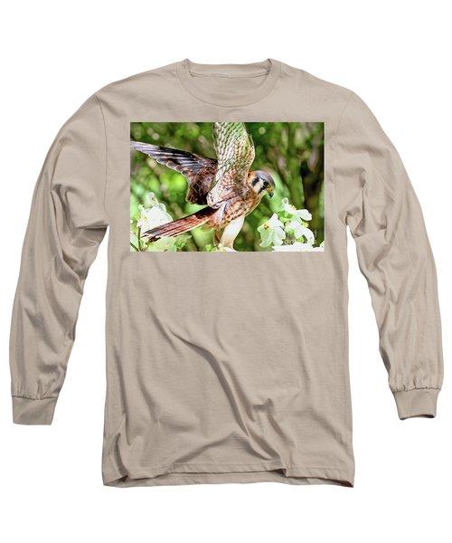 American Kestrel Hawk Long Sleeve T-Shirt