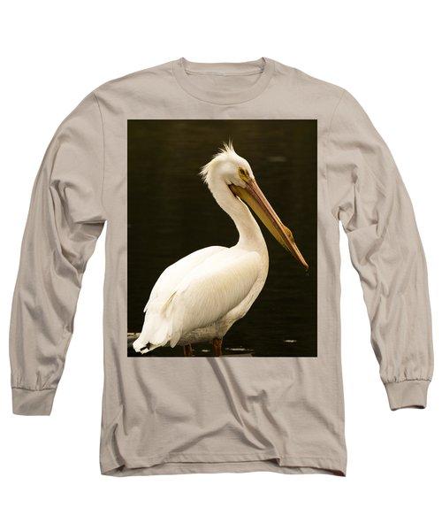 American White Pelican Long Sleeve T-Shirt