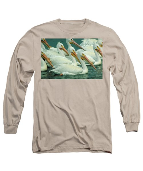 American White Pelicans Long Sleeve T-Shirt