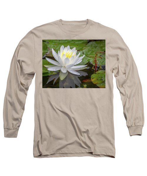 American White Water Lily Long Sleeve T-Shirt