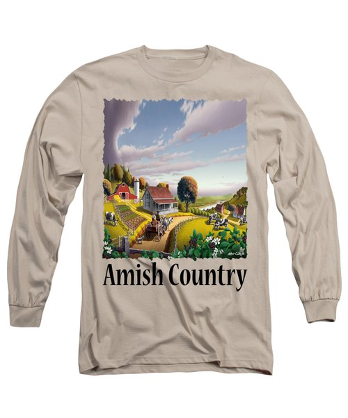 Amish Country - Appalachian Blackberry Patch Country Farm Landscape 2 Long Sleeve T-Shirt