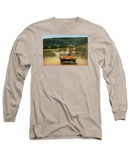 Amish Farmer Three Horses Long Sleeve T-Shirt