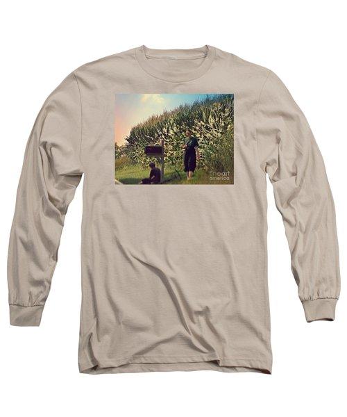 Amish Girls Watermelon Break Long Sleeve T-Shirt