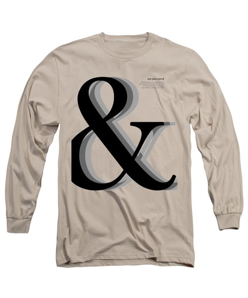 Ampersand - And Symbol - Minimalist Print Long Sleeve T-Shirt
