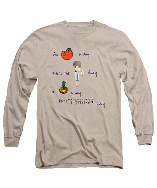 An Apple A Day Long Sleeve T-Shirt