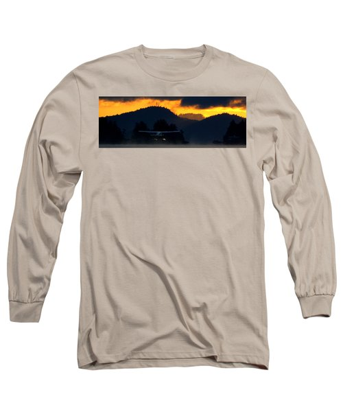 An Early Departure Long Sleeve T-Shirt by Mark Alan Perry