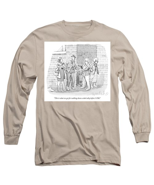 An Elderly Couple Holds Up A Young Couple Long Sleeve T-Shirt