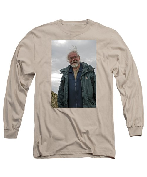 Long Sleeve T-Shirt featuring the photograph An Englishman In Castlerigg, Uk by Dubi Roman