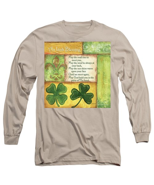 Long Sleeve T-Shirt featuring the painting An Irish Blessing by Debbie DeWitt