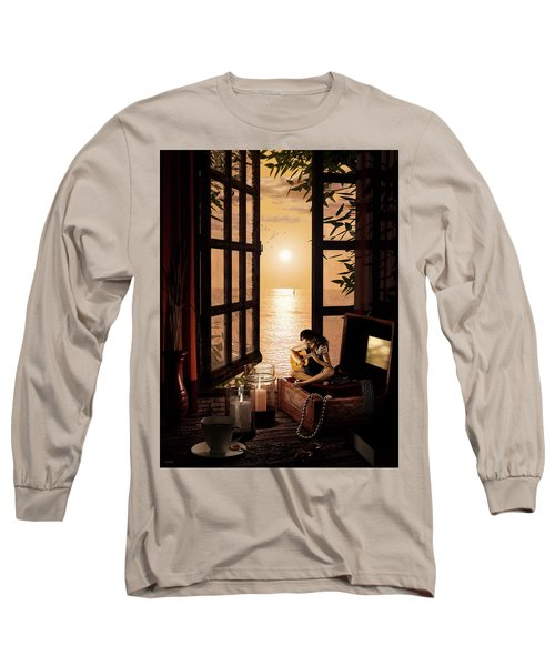 Long Sleeve T-Shirt featuring the digital art Ana by Shinji K