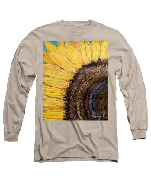 Anatomy Of A Sunflower Long Sleeve T-Shirt
