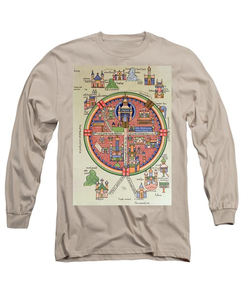 Ancient Map Of Jerusalem And Palestine Long Sleeve T-Shirt