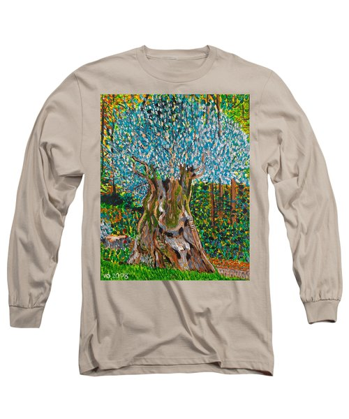 Ancient Olive Tree Long Sleeve T-Shirt by Valerie Ornstein