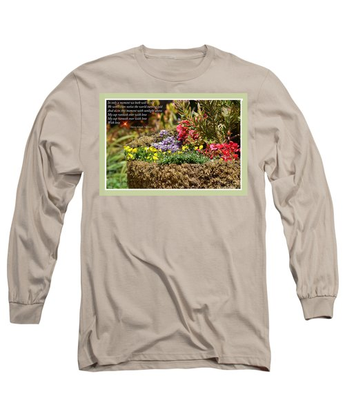 And So In This Moment With Sunlight Above II Long Sleeve T-Shirt by Jim Fitzpatrick