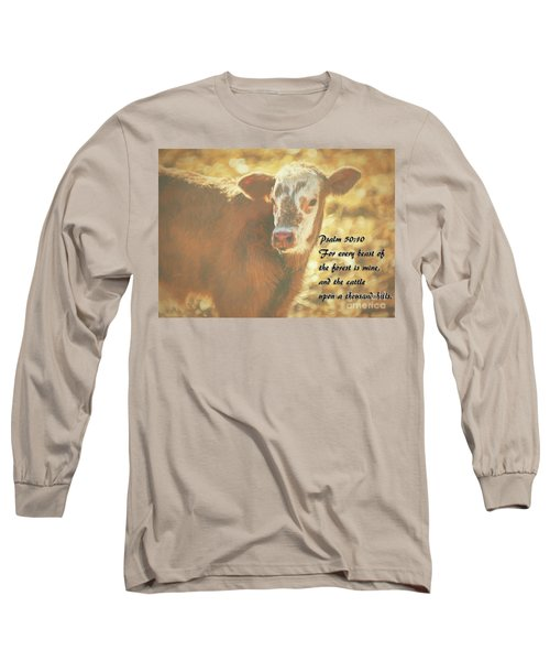 And The Cattle Long Sleeve T-Shirt by Janice Rae Pariza