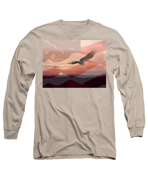 And The Eagle Flies Long Sleeve T-Shirt