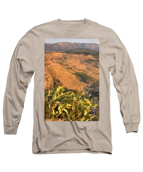 Long Sleeve T-Shirt featuring the photograph Andalucian Golden Valley by Ian Middleton