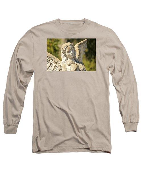 Angel In Mississippi Long Sleeve T-Shirt by Lynn Jordan