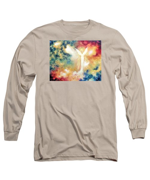 Long Sleeve T-Shirt featuring the painting Angel Light by Marina Petro