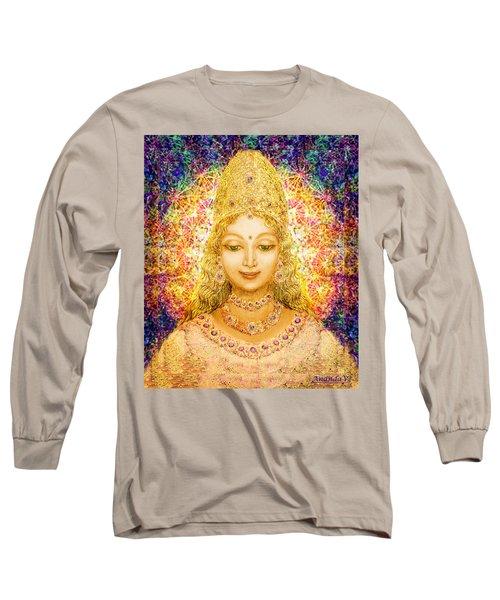 Angel Of Beauty In Blue Long Sleeve T-Shirt
