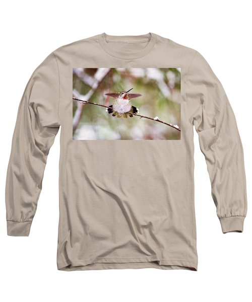 Angel Wings Long Sleeve T-Shirt by Peggy Collins