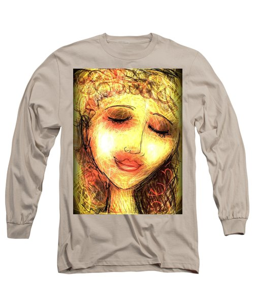 Long Sleeve T-Shirt featuring the digital art Angela by Elaine Lanoue