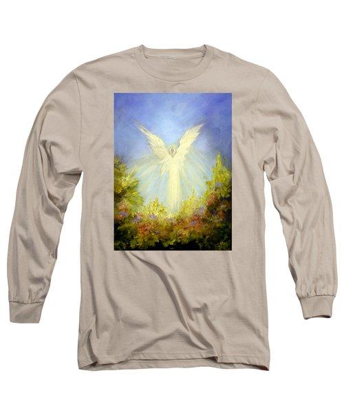Angel's Garden Long Sleeve T-Shirt by Marina Petro