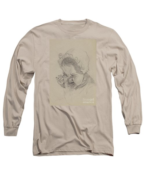 Long Sleeve T-Shirt featuring the drawing Angry by Annemeet Hasidi- van der Leij