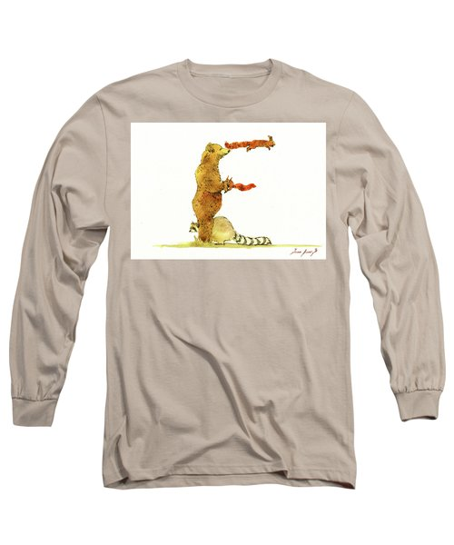 Animal Letter Long Sleeve T-Shirt