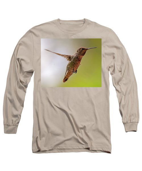 Long Sleeve T-Shirt featuring the photograph Anna's Hummingbird H24 by Mark Myhaver