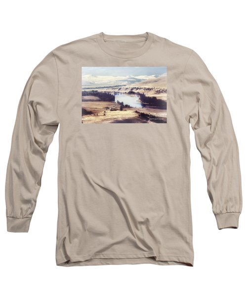 Another Flathead River Image Long Sleeve T-Shirt by Janie Johnson
