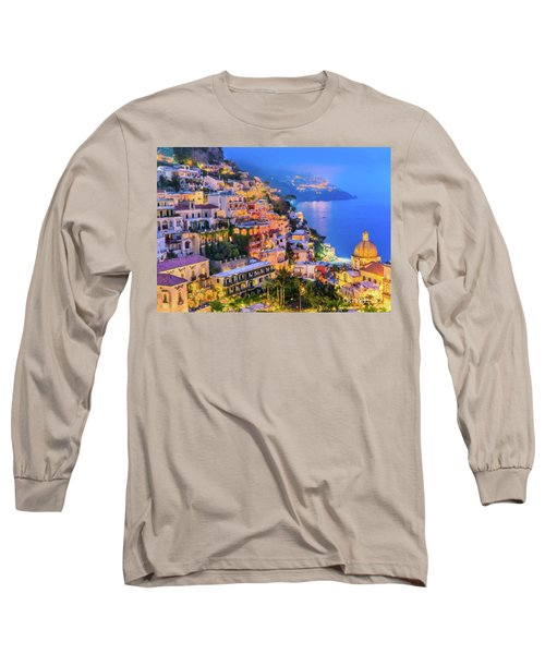 Another Glowing Evening In Positano Long Sleeve T-Shirt