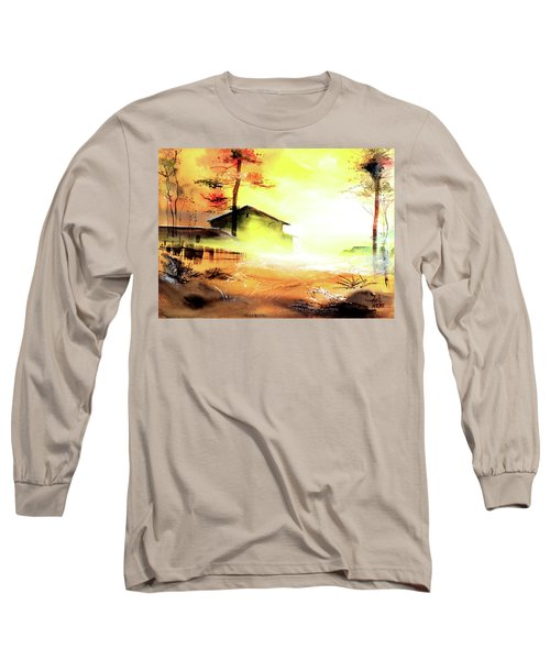 Long Sleeve T-Shirt featuring the painting Another Good Morning by Anil Nene