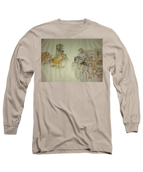 Another Look At Mental Illness Album Long Sleeve T-Shirt by Debbi Saccomanno Chan