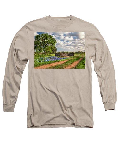 Bluebonnet Ranch Road Long Sleeve T-Shirt