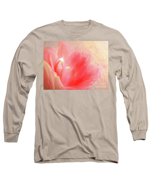 Anther Rose Pink Flora Long Sleeve T-Shirt