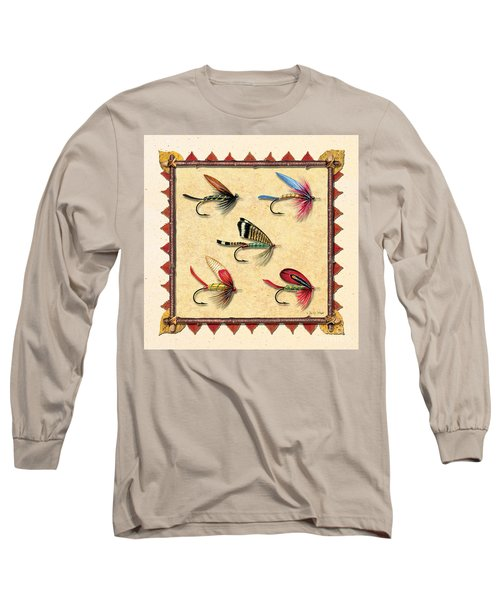 Antique Fly Panel Creme Long Sleeve T-Shirt by JQ Licensing