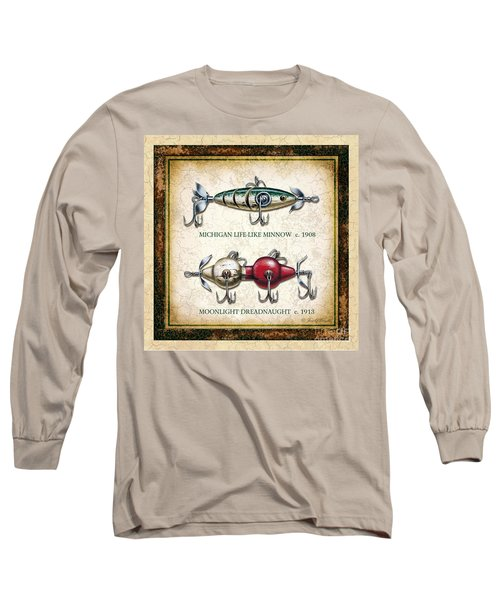 Antique Lure Panel Two Long Sleeve T-Shirt by JQ Licensing Jon Q Wright
