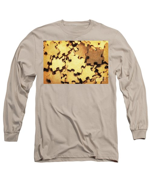 Antique Puzzle Of Missing Links Long Sleeve T-Shirt