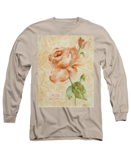 Antique Rose Long Sleeve T-Shirt by Debbie Lewis