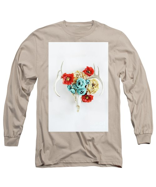 Long Sleeve T-Shirt featuring the photograph Antlers And Florals by Stephanie Frey