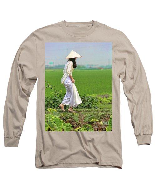 Ao Dai II Long Sleeve T-Shirt by Chuck Kuhn