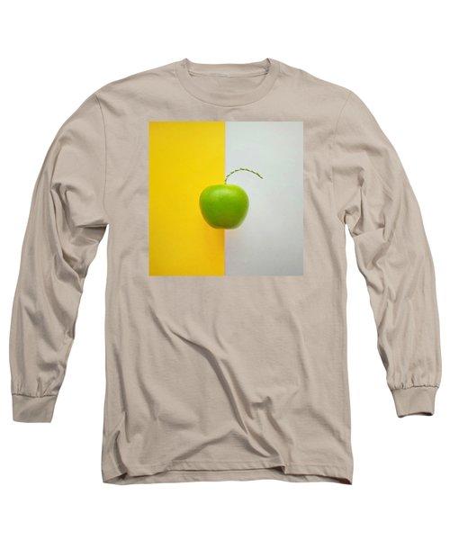Green Apple Long Sleeve T-Shirt by Ann Foo
