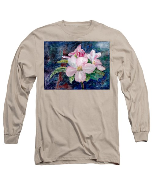 Apple Blossom - Painting Long Sleeve T-Shirt by Veronica Rickard
