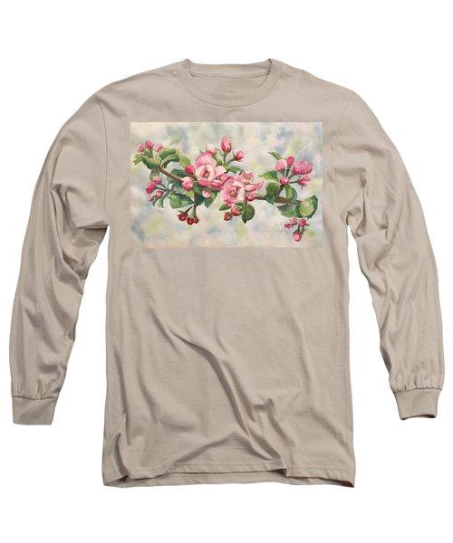 Apple Blossoms Long Sleeve T-Shirt