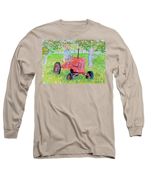 Apple Tree Farmer Sean Smith Long Sleeve T-Shirt by Rae  Smith
