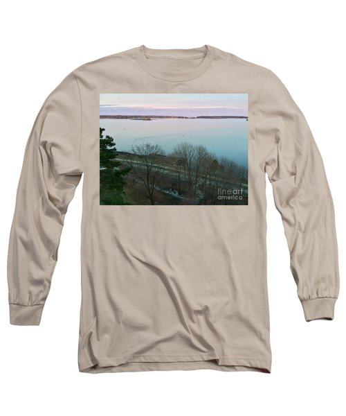 April Twilight On Casco Bay Long Sleeve T-Shirt