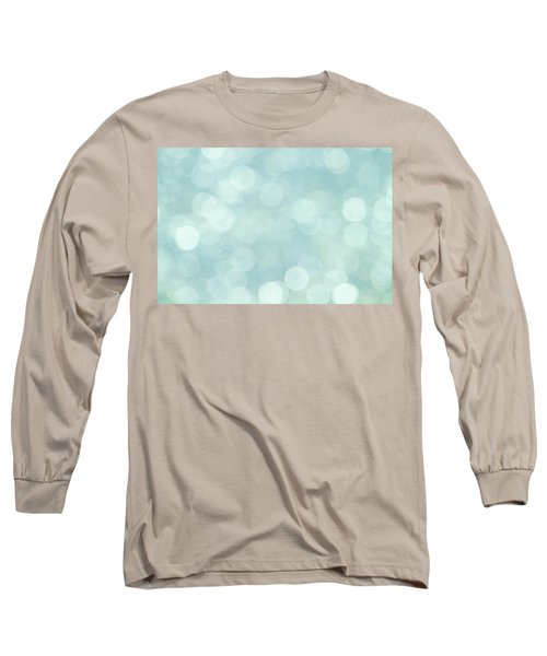 Long Sleeve T-Shirt featuring the photograph Aqua Abstract by Peggy Collins
